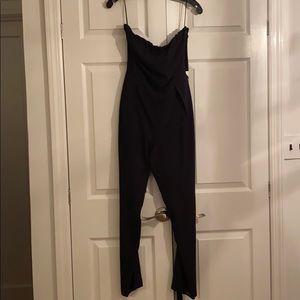 RAMY Brook belted open back Jumpsuit Black